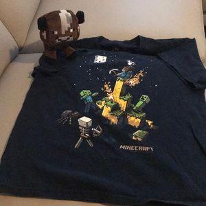 Minecraft Boys Tee Shirt with free stuffed animal